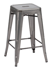 Marius Counter Height Barstool - Gunmetal