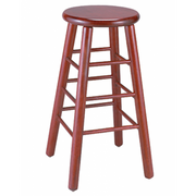 Demi Solid Wood Backless Bar Stool