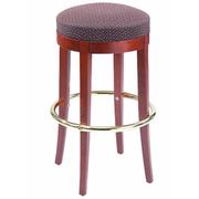 Round Solid Wood Backless Bar Stool