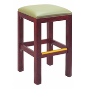Square Solid Wood Backless Bar Stool