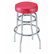Classic Chrome Backless Counter Stool
