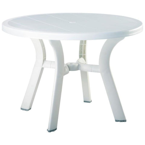 Compamia Truva Resin Round Dining Table 42 inch White ISP146-WHI - RestaurantFurniturePlus + Chairs, Tables and Outdoor