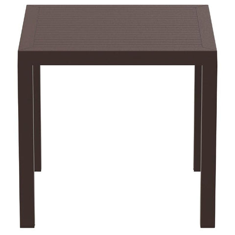 Compamia Ares Resin Square Dining Table Brown 31 inch ISP164-BRW - RestaurantFurniturePlus + Chairs, Tables and Outdoor - 2