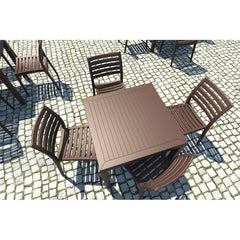 Compamia Ares Resin Square Dining Set with 4 chairs Brown ISP1641S-BRW - RestaurantFurniturePlus + Chairs, Tables and Outdoor