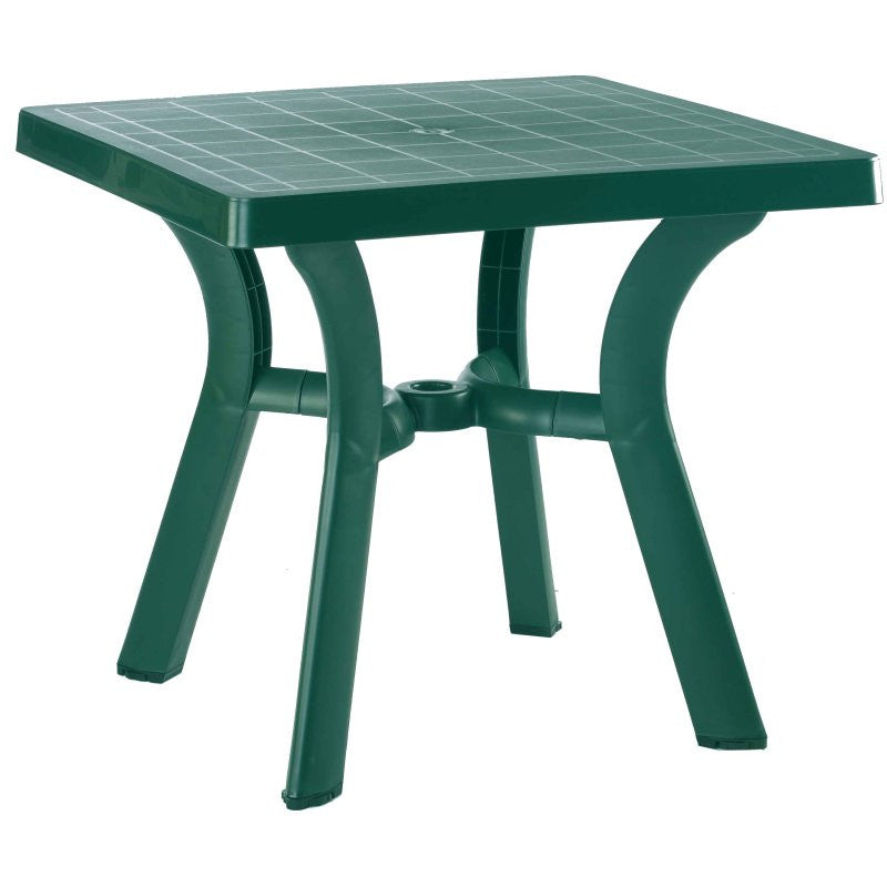 Compamia Viva Resin Square Dining Table 31 inch Green ISP168-GRE - RestaurantFurniturePlus + Chairs, Tables and Outdoor
