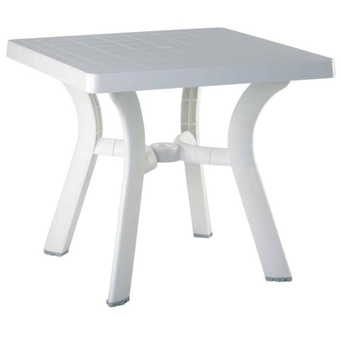 Compamia Viva Resin Square Dining Table 31 inch White ISP168-WHI - RestaurantFurniturePlus + Chairs, Tables and Outdoor