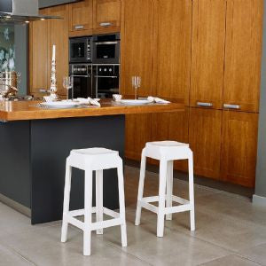 Compamia Fox Polycarbonate Counter Stool Glossy White ISP036-GWHI - RestaurantFurniturePlus + Chairs, Tables and Outdoor - 3