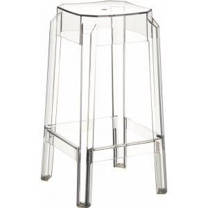 Compamia Fox Polycarbonate Counter Stool Clear Transparent ISP036-TCL - RestaurantFurniturePlus + Chairs, Tables and Outdoor - 3