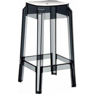 Compamia Fox Polycarbonate Counter Stool Transparent Black ISP036-TBLA - RestaurantFurniturePlus + Chairs, Tables and Outdoor - 1