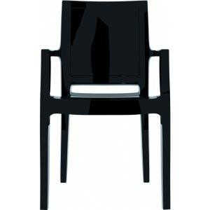 Compamia Arthur Polycarbonate Modern Dining Chair Glossy Black ISP053-GBLA - YourBarStoolStore + Chairs, Tables and Outdoor  - 1