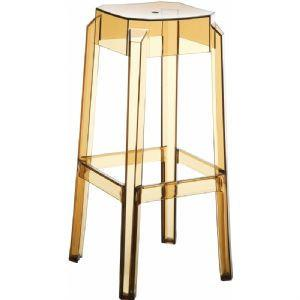 Compamia Fox Polycarbonate Bar Stool Transparent Amber ISP037-TAMB - RestaurantFurniturePlus + Chairs, Tables and Outdoor - 1