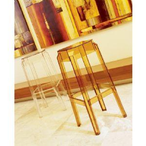 Compamia Fox Polycarbonate Bar Stool Transparent Amber ISP037-TAMB - RestaurantFurniturePlus + Chairs, Tables and Outdoor - 2