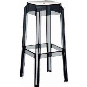 Compamia Fox Polycarbonate Bar Stool Transparent Black ISP037-TBLA - RestaurantFurniturePlus + Chairs, Tables and Outdoor - 1
