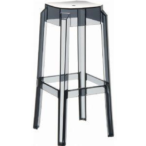 Compamia Fox Polycarbonate Bar Stool Transparent Smoke Gray ISP037-TGRY - RestaurantFurniturePlus + Chairs, Tables and Outdoor - 7