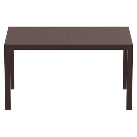 Compamia Ares Resin Rectangle Dining Table Brown 55 inch ISP186-BRW - RestaurantFurniturePlus + Chairs, Tables and Outdoor - 2