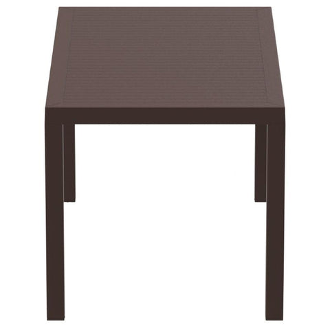 Compamia Ares Resin Rectangle Dining Table Brown 55 inch ISP186-BRW - RestaurantFurniturePlus + Chairs, Tables and Outdoor - 3