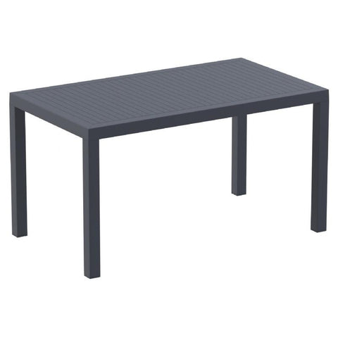 Compamia Ares Resin Rectangle Dining Table Dark Gray 55 inch ISP186-DGR - RestaurantFurniturePlus + Chairs, Tables and Outdoor - 1