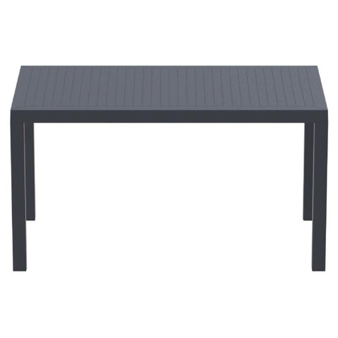 Compamia Ares Resin Rectangle Dining Table Dark Gray 55 inch ISP186-DGR - RestaurantFurniturePlus + Chairs, Tables and Outdoor - 2