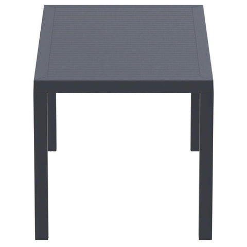 Compamia Ares Resin Rectangle Dining Table Dark Gray 55 inch ISP186-DGR - RestaurantFurniturePlus + Chairs, Tables and Outdoor - 3