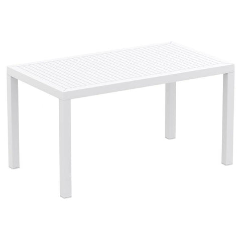 Compamia Ares Resin Rectangle Dining Table White 55 inch ISP186-WHI - RestaurantFurniturePlus + Chairs, Tables and Outdoor - 1