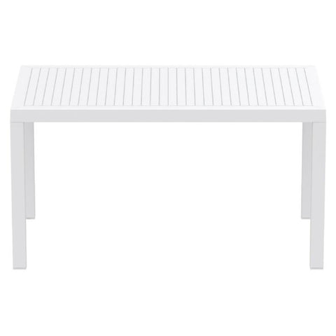 Compamia Ares Resin Rectangle Dining Table White 55 inch ISP186-WHI - RestaurantFurniturePlus + Chairs, Tables and Outdoor - 2