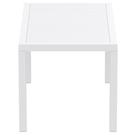 Compamia Ares Resin Rectangle Dining Table White 55 inch ISP186-WHI - RestaurantFurniturePlus + Chairs, Tables and Outdoor - 3