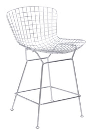 Wire Counter Height Barstool - Chrome