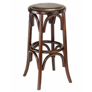 Crossback Solid Wood Backless Bar Stool