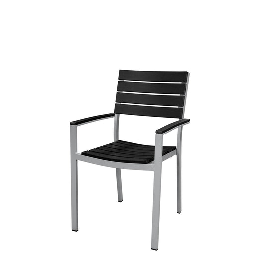 Vienna Dining Arm Chair (Black) - YourBarStoolStore + Chairs, Tables and Outdoor