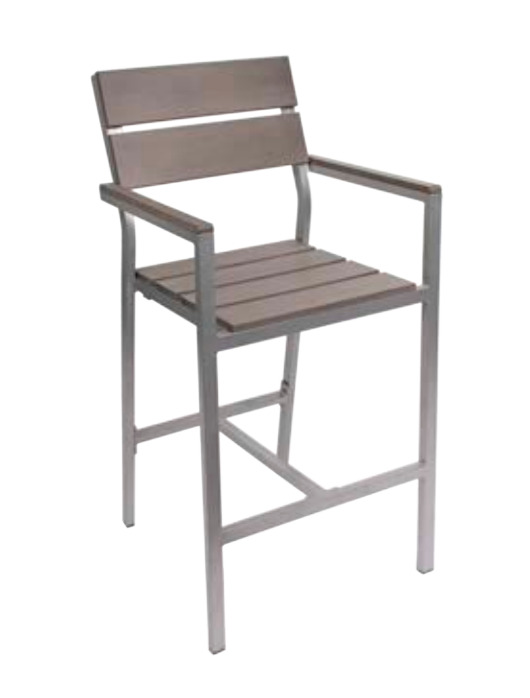 Outdoor Furniture Seaside Arm Bar Stool