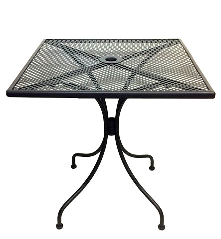 "Outdoor Wrought Iron Table 27"" x 27"""