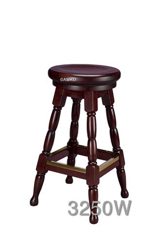 European Beechwood Custom Finish Backless Swivel Bar Stool