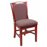 Schoolhouse Solid Wood Fully Upholstered Dining Chair