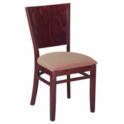 Contempo Solid Wood Dining Chair in Walnut Finish