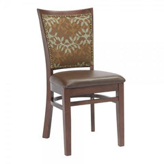 Checker Back Solid Wood Fully Upholstered Dining Chair