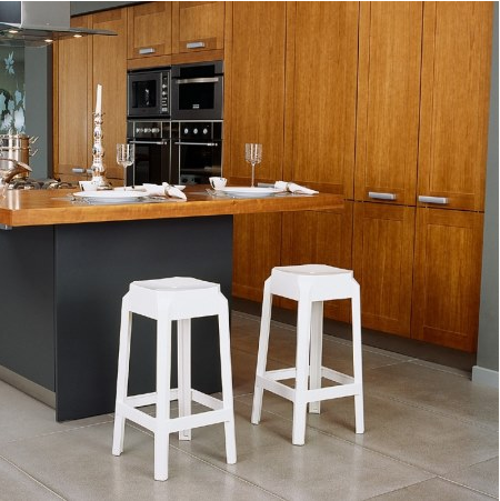 Compamia Fox Polycarbonate Bar Stool Glossy White ISP037-GWHI - RestaurantFurniturePlus + Chairs, Tables and Outdoor - 3