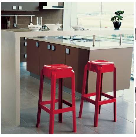 Compamia Fox Polycarbonate Bar Stool Glossy Red ISP037-GRED - RestaurantFurniturePlus + Chairs, Tables and Outdoor - 3