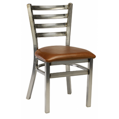 Dante Metal Dining Chair with Distressed Clear Frame