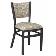 Dante Metal Fully Upholstered Dining Chair
