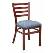 Dante Metal Dining Chair - Mahogany or Walnut