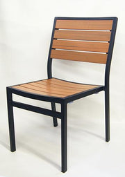 Outdoor Synthetic Teak Side Chair