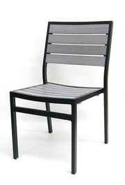 Outdoor Synthetic Gray Teak Side Chair