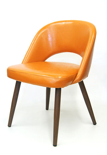 Wood Grain Metal Frame Chair
