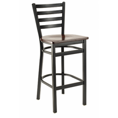 Dante Black Metal Bar Stool