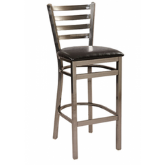 Dante Metal Bar Stool with Distressed Clear Frame