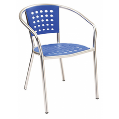 Lumina Outdoor Plastic Chair with Aluminum Frame