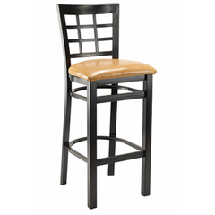 Windsor Black Metal Bar Stool