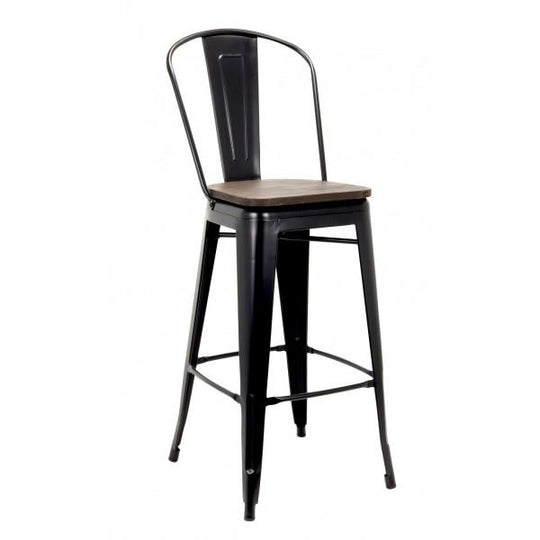 Astor Metal Tolix-Style Bar Stool
