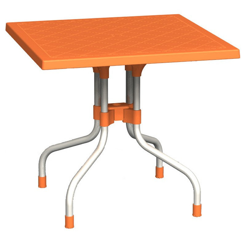 Compamia Forza Square Folding Table 31 inch Orange ISP770-ORA - RestaurantFurniturePlus + Chairs, Tables and Outdoor - 1