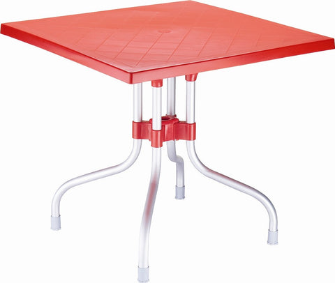 Compamia Forza Square Folding Table 31 inch Red ISP770-RED - RestaurantFurniturePlus + Chairs, Tables and Outdoor